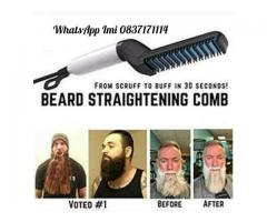Mens beard straightening comb