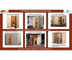 Freestanding Norwegian Spruce Saunas