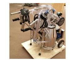 Double Tank Electric Vacuum Pump Milking Machine For Cows and Sheep