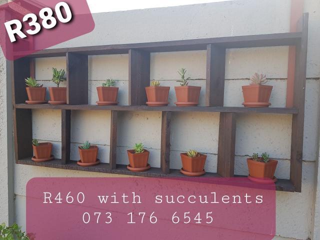 Succulent Wooden Wall Decor - 2/3