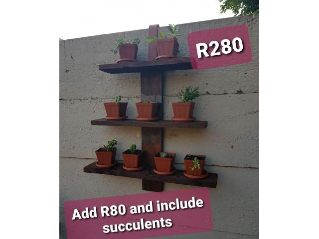 Succulent Wooden Wall Decor - 3/3