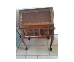 IMBUIA VINTAGE SECRETAIRE BUREAU DROP FRONT WRITING DESK