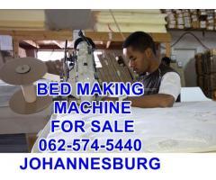 mattress machine making beds