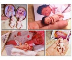 Custom Ooak Handcrafted Polymer Dolls Made from photo.