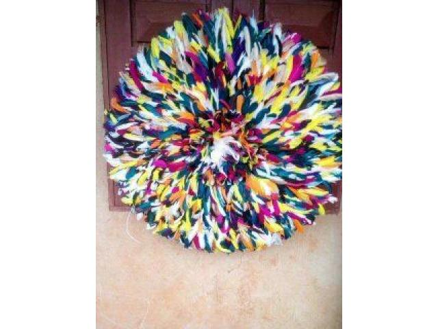 Authentic African Juju Hats, Set of 10 – Mix colors. - 2/4
