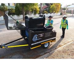 Rechargeable Wheelie Bin Cleaning Trailer