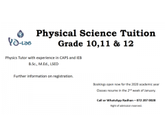Physical Science Tuition