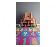 Unique designed Kids wood chairs x7 chairs (demo stock)