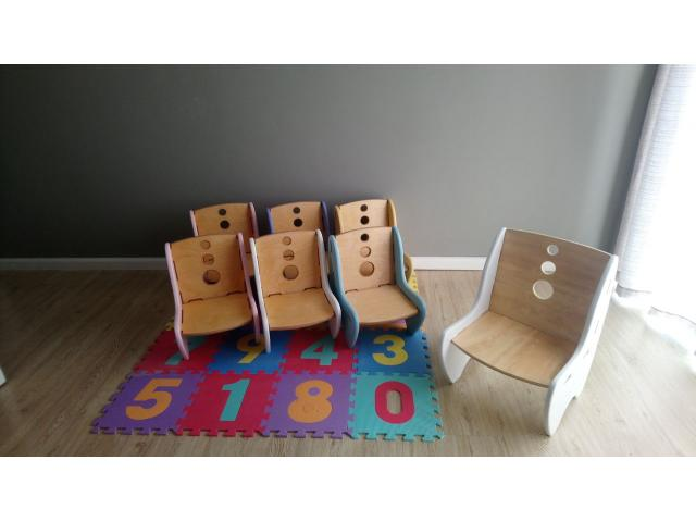 Unique designed Kids wood chairs x7 chairs (demo stock) - 4/4