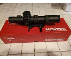 Trijicon AccuPower 1-8x28 Green/Red Mil Reticle with LaRue QD Mount