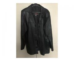 Original black leather jacket