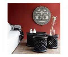 Class hand carved Bamileke stool/coffee table from Cameroon .
