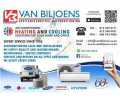 Van Biljoens Appliance Repairs and Airconditioners