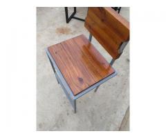 Metal and Wood Bar stool