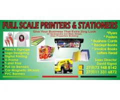 full scale printers and stationers