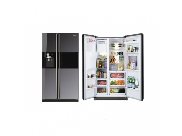 Samsung Rs21hflmr 524l Mirror Side By Side Fridgefreezer Class Ads