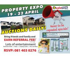 Stands and Houses on Auction 19 to 22 April 2018