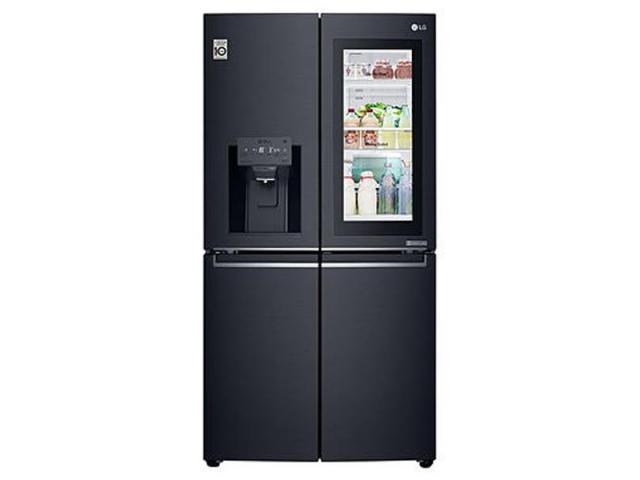 LG 910L Multi Door Fridge, with InstaView Door-In-Door®, in Matte Black Stainless Steel - 2/3