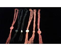 beaded belts ,earings