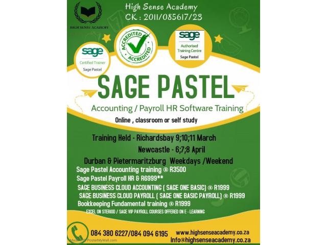 Sage Pastel Accounting / Payroll hr Training and Support offered - 1/4