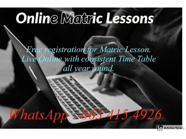 Matric Lessons Online - 1/2