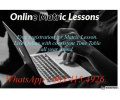 Matric Lessons Online