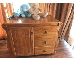 Solid oak hand crafted compactum for sale