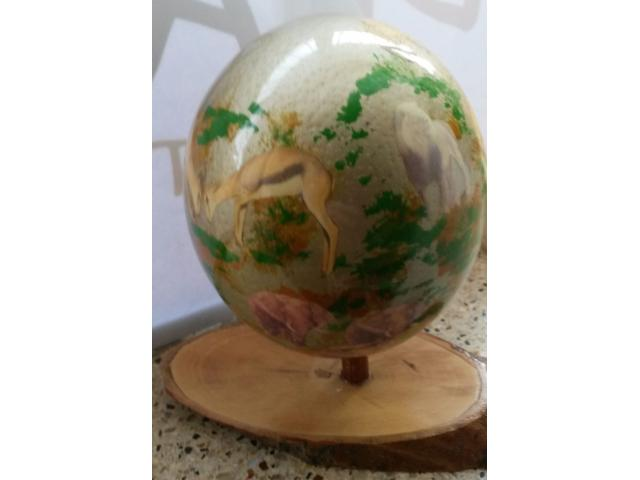 Hand crafted Ostrich Eggs - 1/4