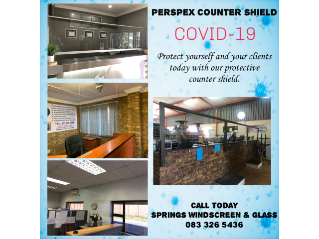 Perspex Counter Shield - 1/1
