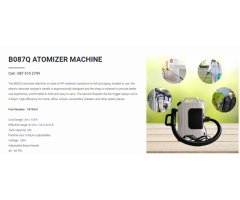 B087Q Atomizer Machine on sale | Call : 087 510 2799