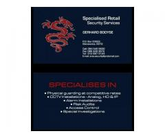 Security guards, cctv, access control and alarms