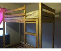 Loft Bed, Single Bed, One Mattress