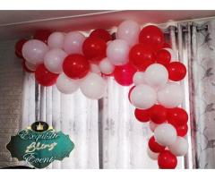 Diy Balloon Garlands and Party setup