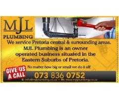 PLUMBERS - PLUMBING REPAIRS - PRETORIA - SURROUNDING AREAS