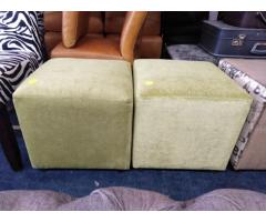 Cube shaped ottomans
