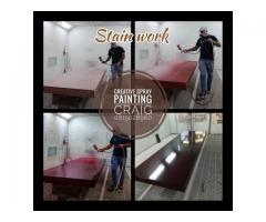 For any custom spray painting and painting on wood, steel, plastic, glass and any other appliances