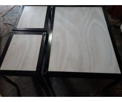 #Industrial arts coffee table and two footrests/ bedside tables. R3500 or nearest cash offer