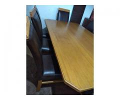 Large Oak Dinning room table with 8 chairs