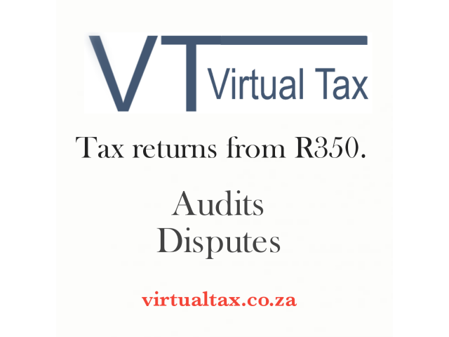 Tax returns at only R350 each - 2/3