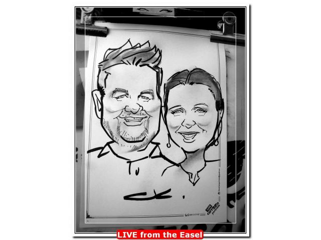 3 minute Portrait Sketches at Events and Weddings - Live Entertainment by Caricature Artist. - 2/4