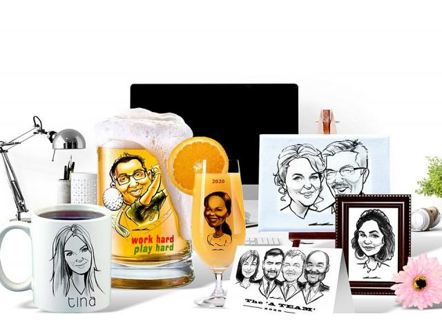 3 minute Portrait Sketches at Events and Weddings - Live Entertainment by Caricature Artist. - 4/4