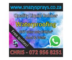 Strong Liquid Rubber Waterproofing - Any Color! - R40/m²