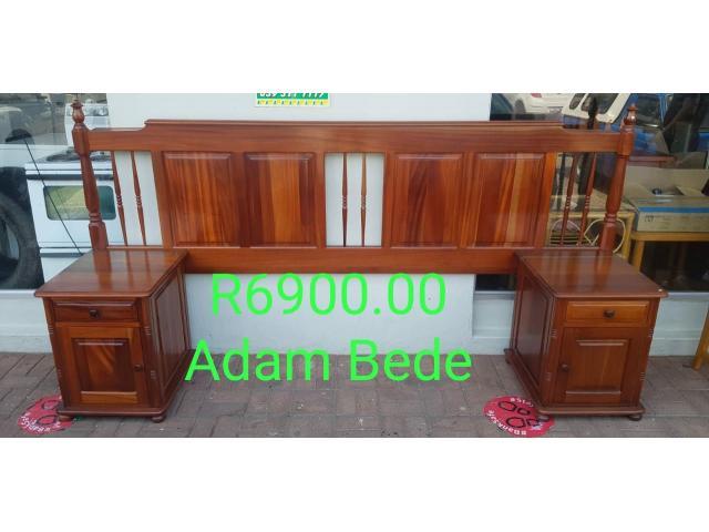 Adam Bede (Pristine Condition)Double bed Headboard + Pedestals for sale in Port Edward. - 1/1
