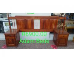 Adam Bede (Pristine Condition)Double bed Headboard + Pedestals for sale in Port Edward.
