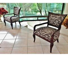 X2 Zebra beautiful Show chairs (thick soft material) – Fourways