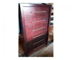 Queen XL bed and headboard plus 6 x drawer chest