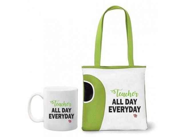Teacher all day everyday, tote bag and mug combo - 3/4