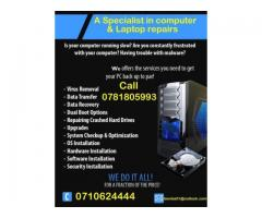 Laptop screen replacement and computer services ,we can also come to you .
