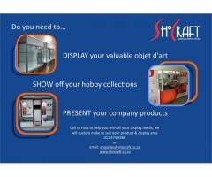 Showcases, custom / glass and aluminium | custom display units | aluminium showcases