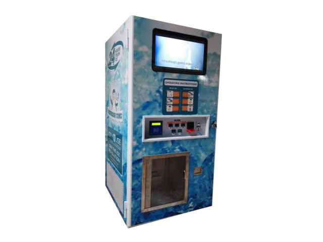 Automated Ice & Water Vending Machines For Sale – Automatic Bagging & Sealing, Sell Ice 24/7 - 1/4